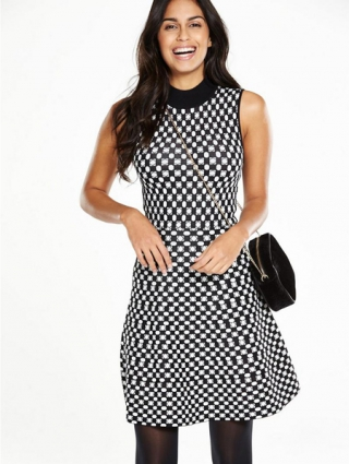 Knitted Fit and Flare Dress