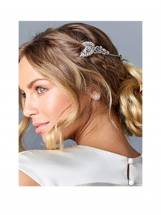 Crystal Double Wrap-around Comb