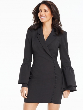 Button Side Tux Dress
