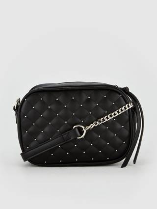 Peggy Quilted Camera Bag - Black