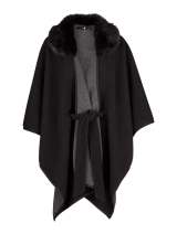 Faux Fur Fleece Cape