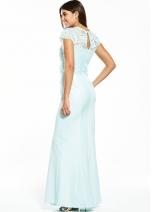 Lace Overlay Maxi Dress