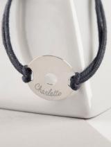 Unisex Black Disc Bracelet