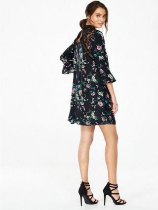 High Neck Lace Swing Dress