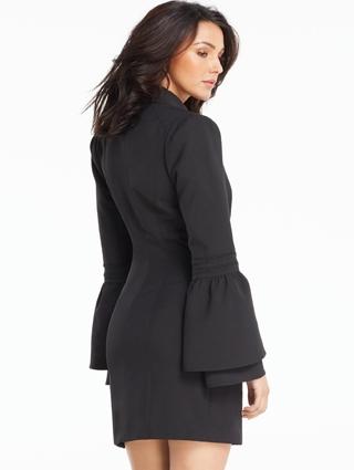 Button Side Tux Dress