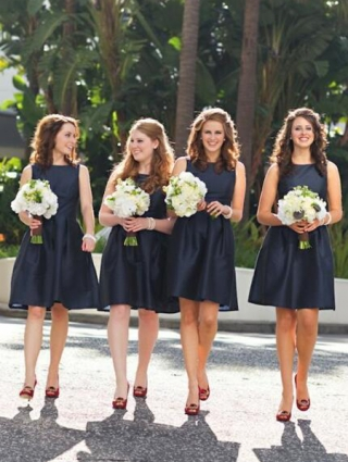 Dark Navy Bridesmaid Dress