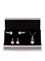 Silver plated crystal set