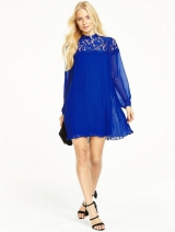 Lace Pleated Tunic Dress