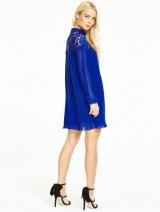 Lace Pleated Tunic Dress