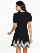 Hem Knitted Skater Dress
