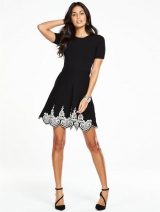 Hem Knitted Skater Dress