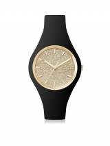 Black  Glitter Silicone Watch