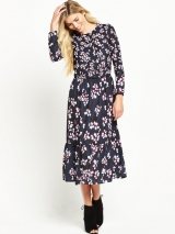 Midi Dress - Utility Blue Multi