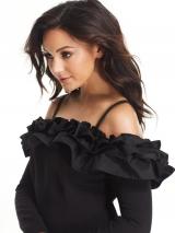 Ruffle Long Sleeve  Dress