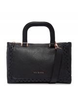 Interlocking Leather Tote - Black
