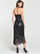 Leather Bardot Midi Dress