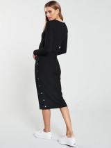Midi Ribbed Button Dress