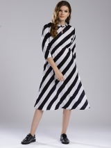White & Black Striped Dress