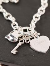 Engraved Charm Bracelet