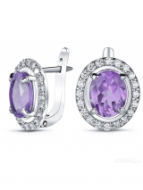 Silver Earrings with  Alexandrite